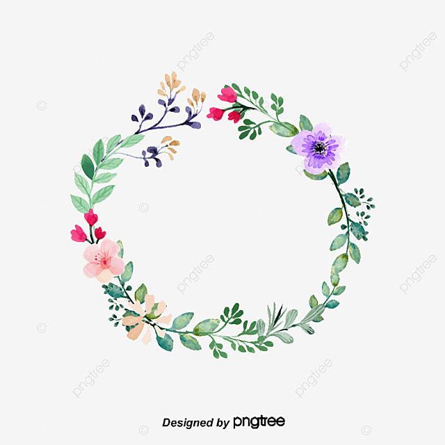 the pink flower decoration box vector png little wild flower rh pngtree com May Flowers Clip Art Borders Hawaiian Flower Border Clip Art