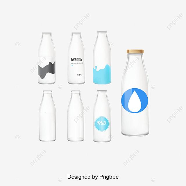 vecteur  u00e0 des bouteilles de lait graphique vectoriel peint