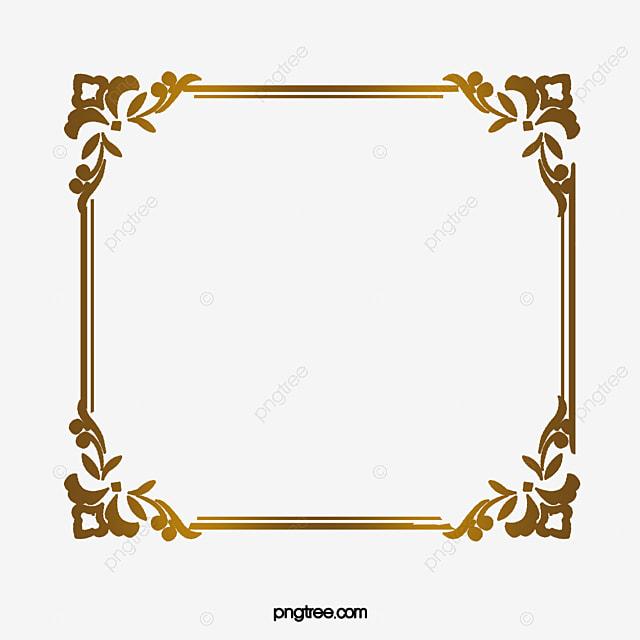 Home Design 3d Vs Gold: Luxo Borda Dourada Luxo Padrão Arco PNG Imagem Para