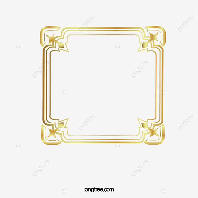 Luxury gold border, Luxurious, Decorative Pattern, Fillet PNG Image for Free Download
