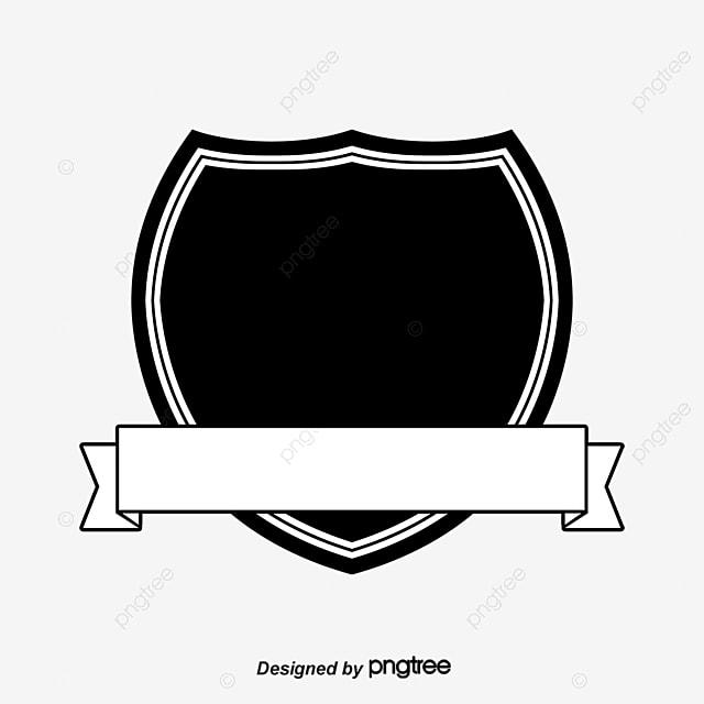 Black Shield Ribbon Clipart PNG Image And