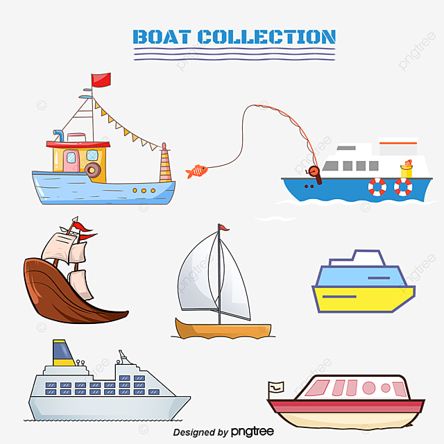 cartoon boat vector overlooking ship tourism travel tools png and rh pngtree com boat vector free boat vector free download