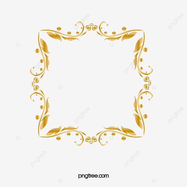 La Marco Dorado Atmósfera Golden Frame Imagen PNG Para