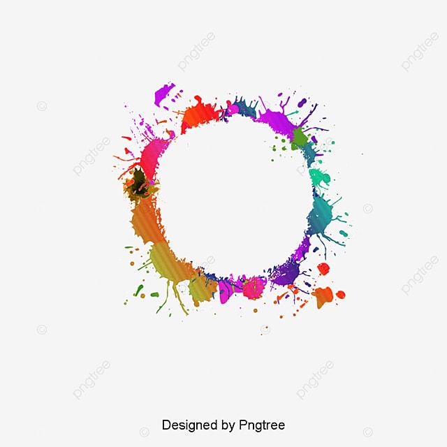 border color ink color circle frame ink border round