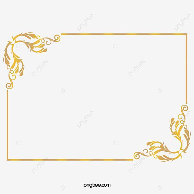 Golden Noble Frame, Frame Clipart, Golden, Honorable PNG