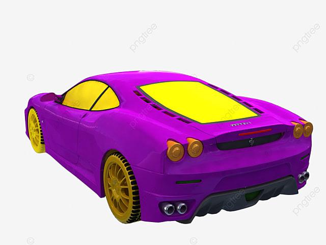 Cartoon Purple Luxury Sports Car Cartoon Vector Car Vector Sports