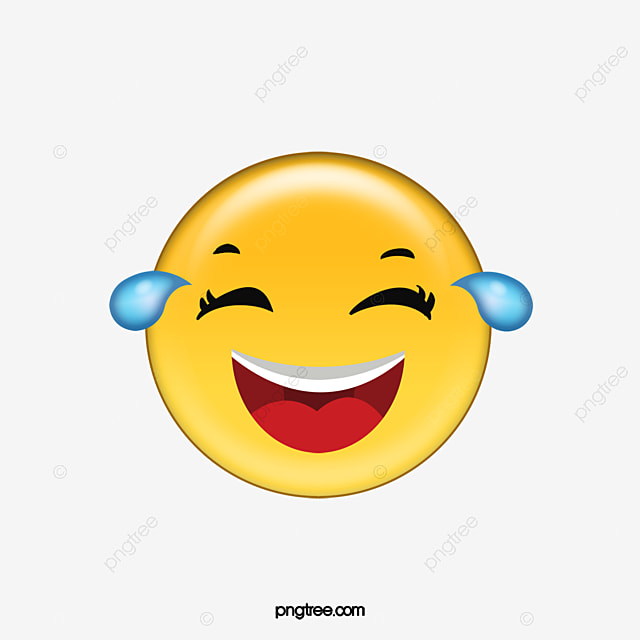 Laughing And Crying Expression Pack Cartoon Emoji Emoticon PNG Vector