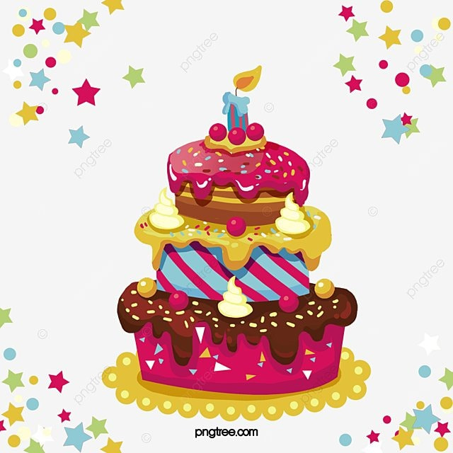 Three Layer Birthday Cake Vector Png Cake Birthday Cake PNG and