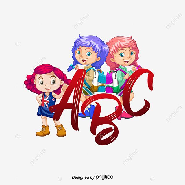 cartoon kids  floret  letter  abc png clipart image and