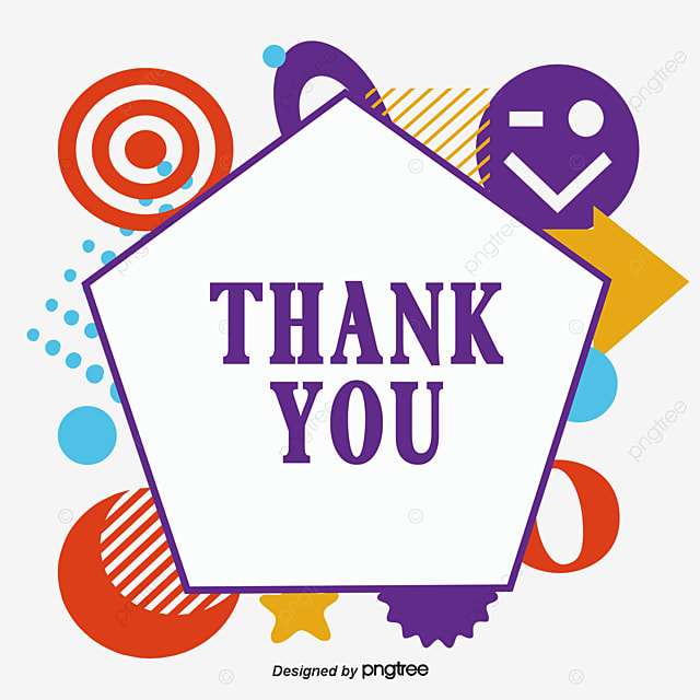 hexagonal thank you card vector png thank you thankyou png and