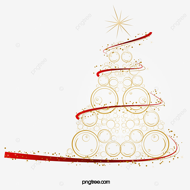 Creative Golden Christmas Tree Originality Abstract PNG And Vector