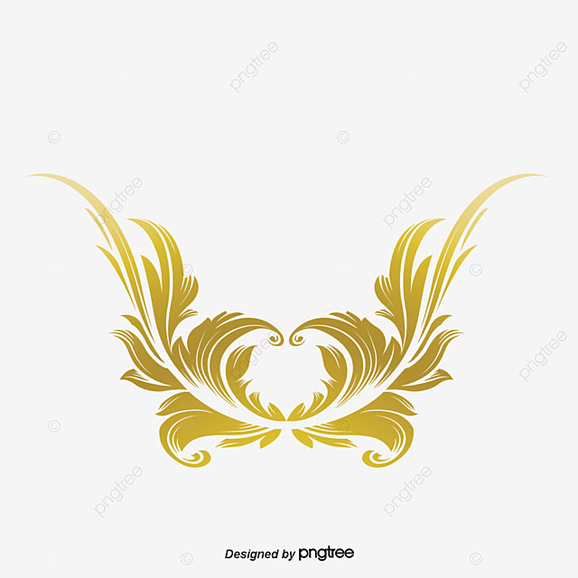 Royal Template Golden Seamless Bending Royal Symbol Png And