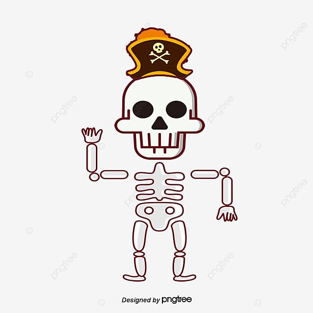le squelette de dire bonjour le vecteur de png cr u00e2ne