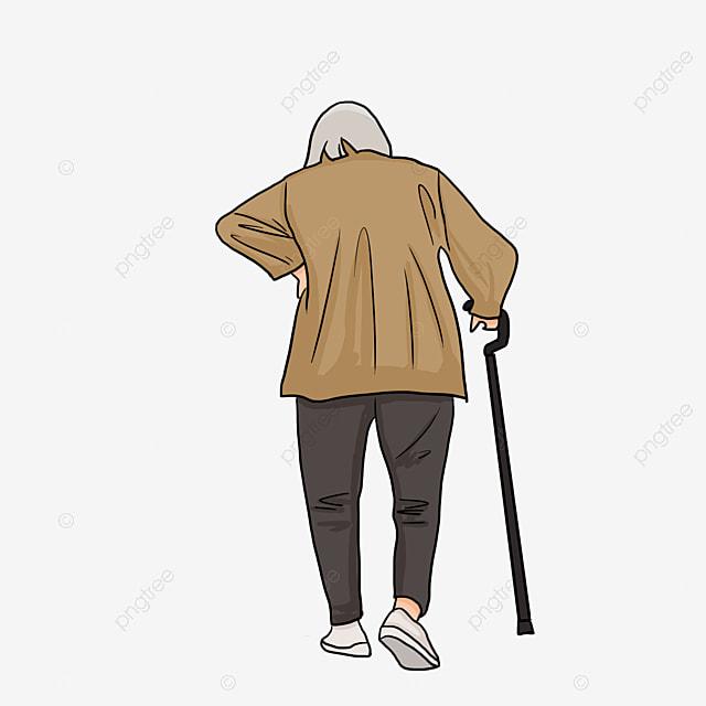 le vieil homme de marche arri u00e8re les personnes  u00e2g u00e9es se promener se promener image png pour le