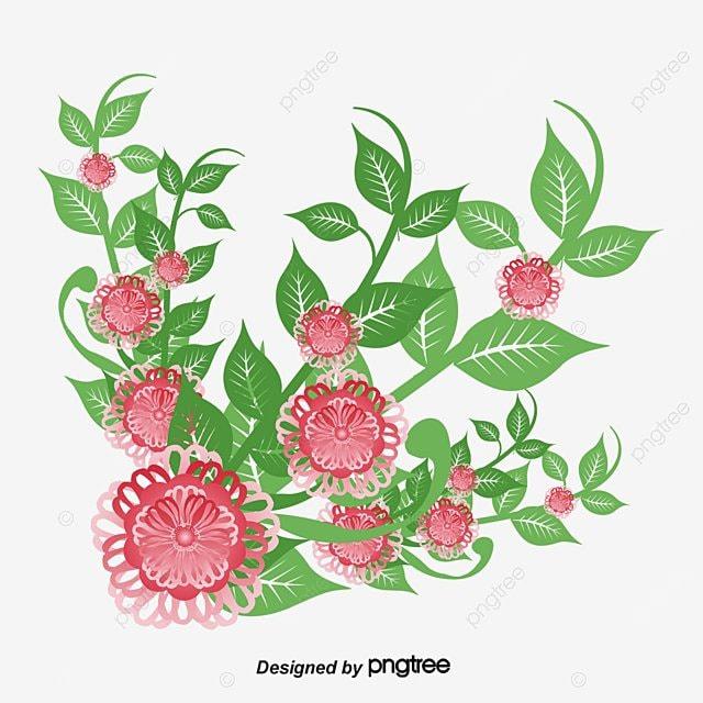 Romantic Watercolor Flowers Vector Png Flowers In