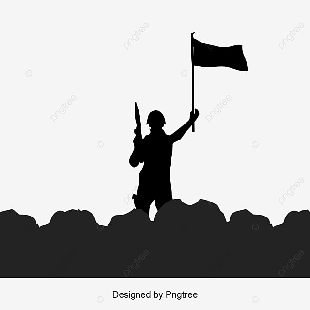 Army Ppt Soldier Black And White Silhouette Illustration Army
