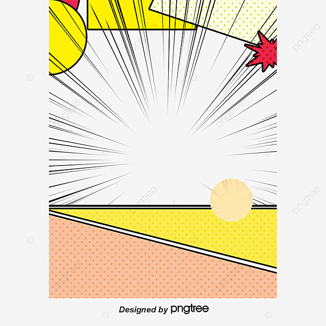 Yellow Comic Frame, Yellow, Cartoon, Frame PNG Image and Clipart for ...