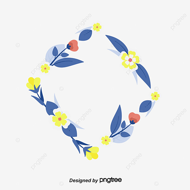 Watercolor Flower Border Clipart Creative Borders PNG Image And