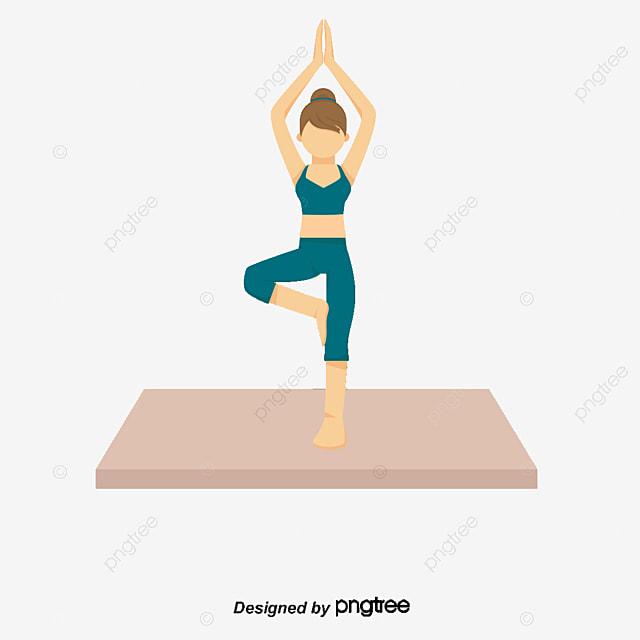 faire du yoga personne femme dessin la salle de femme png