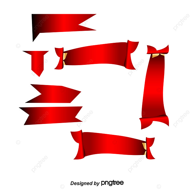 the red ribbon is flowing in the vector banner red ribbon retro rh pngtree com vector ribbon banner illustrator vector ribbon banner eps free