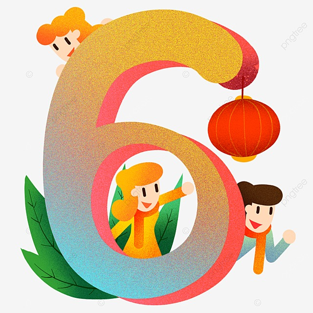 vector number teddy 6 vector number cartoon free png and vector