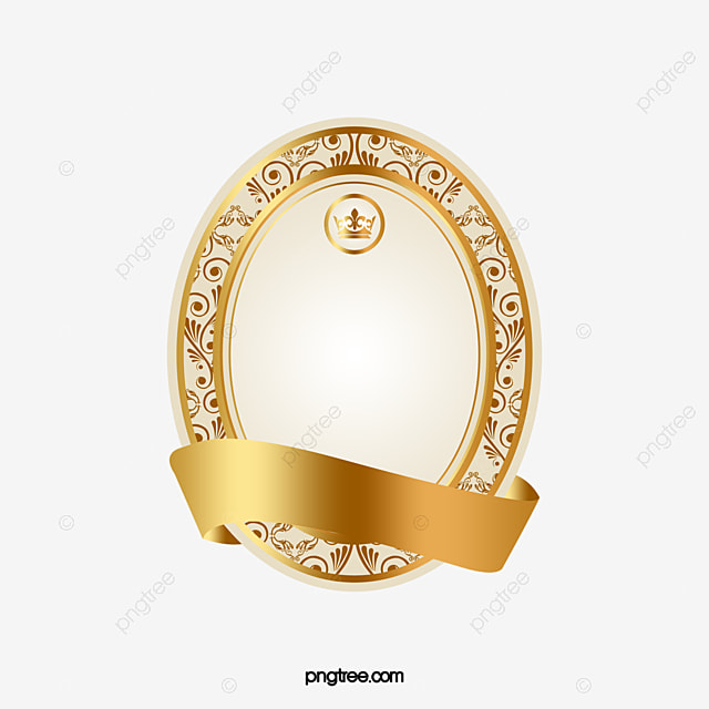 golden ribbon luxurious circle halo png image for free