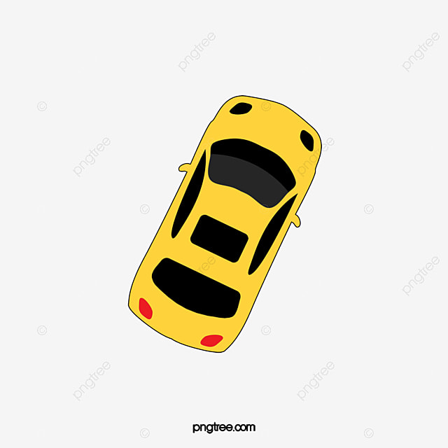 Yellow Car Top View Car Clipart Yellow Car Top View Png Image And