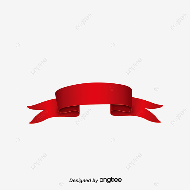 Retro Red Label Material Decorate Ribbon Banner Junk Label Png