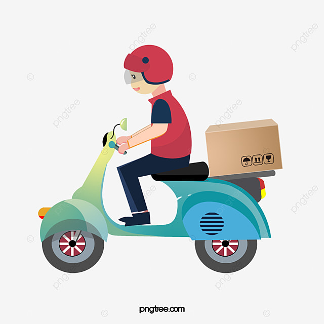 a motorcycle delivery man  vector png  delivery boy motorcycle rider vector art motorcycle racing vector art