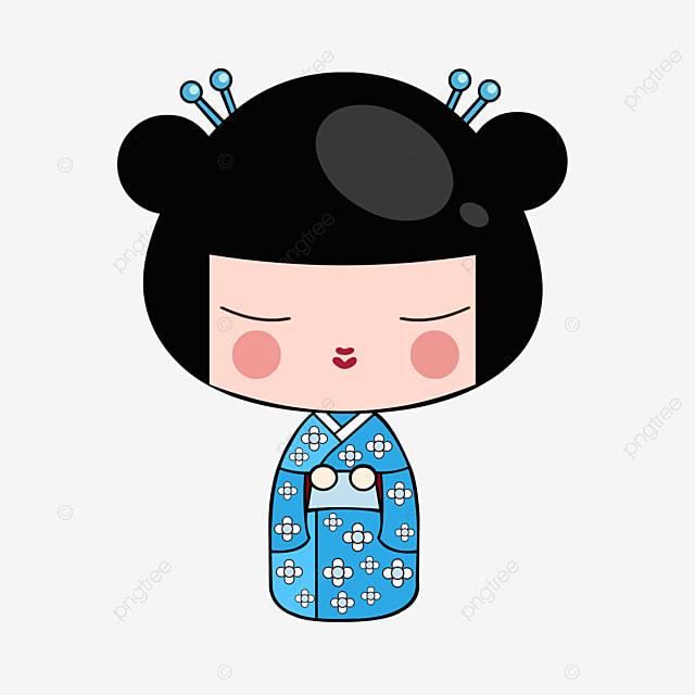 Kimono Dibujo De Decoracion Chica Japonesa Archivo Png Y Psd Para
