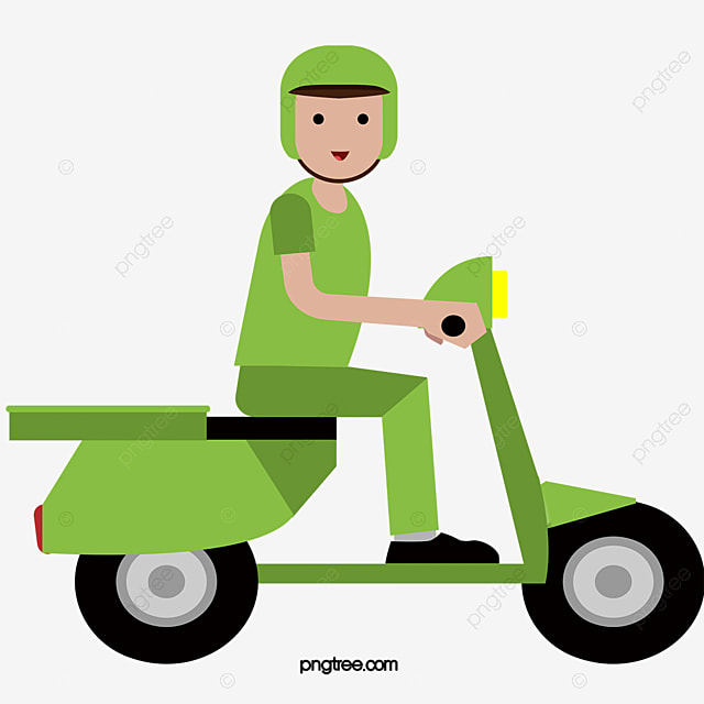 Vert Coursier Moto Gratuit PNG Et Vecteur