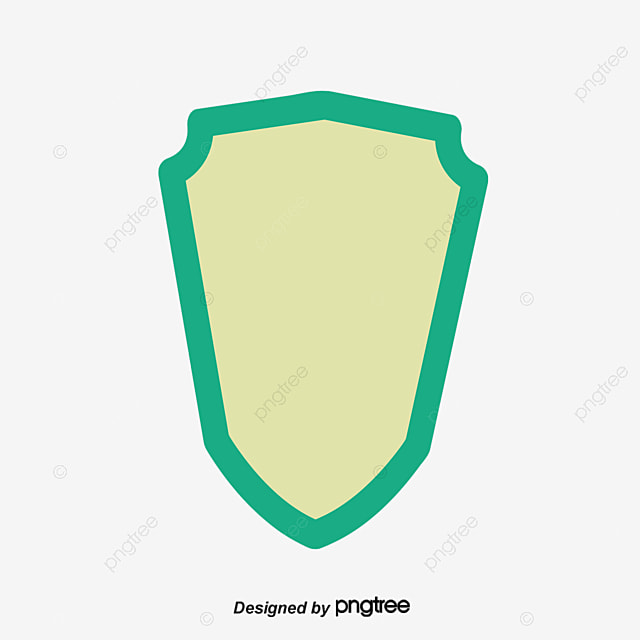 Shield Shape Flat Vector PNG And