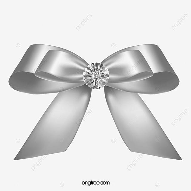 Hand Drawn Silver Ribbon Bow, Ribbon Clipart, Bow Clipart ...  Hand Drawn Silv...