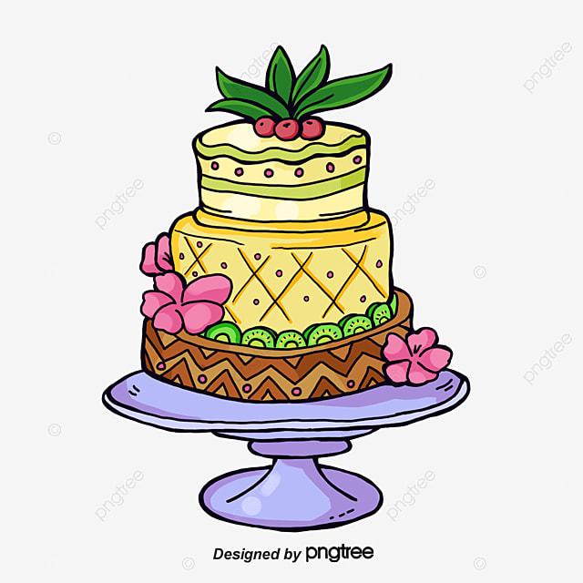 Watercolor Cake Design Cake Clipart Watercolor Cake Exquisite