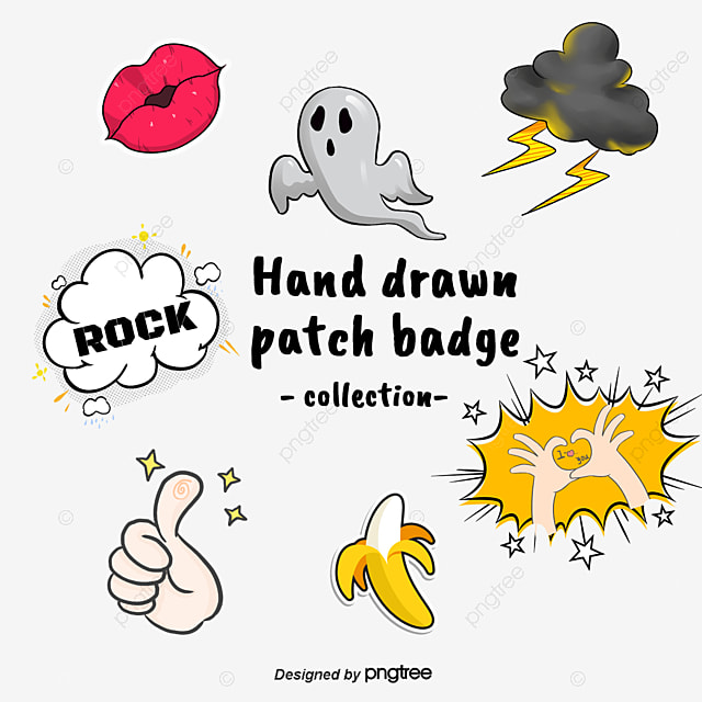 Cute cartoon ghost Cartoon Sticker Hand Ghost PNG and Vector