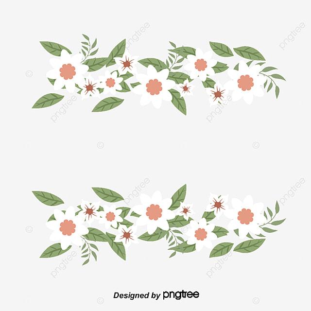 Pequeña Flor Blanca Fresca Frontera, Vector PNG, Flores Blancas ...