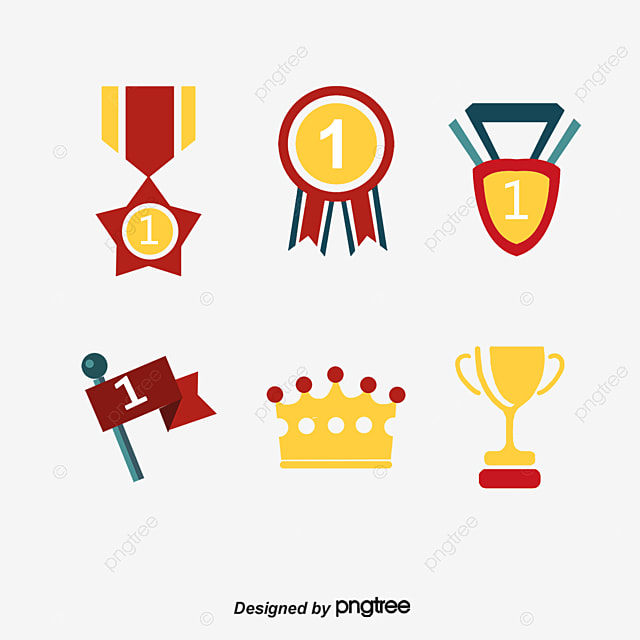 medal vector, Yellow Gold, Champion, Top PNG and Vector ...