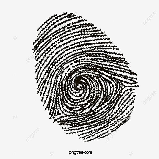Finger Print Huella Digital Dibujo A Mano De Dibujos Animados Imagen