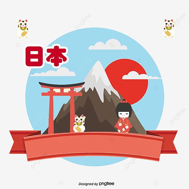 Cartoon Japanese Tourist Decoration, Tourism, Travel