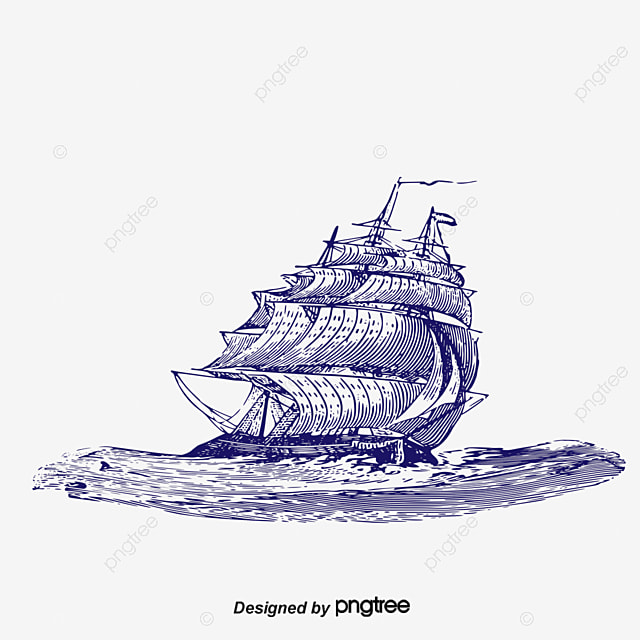 le bateau de croquis en mer croquis paysage bateau png et