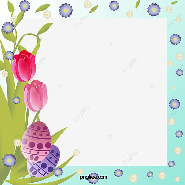 Fresh Style Easter Border Pattern, Fresh Style, Easter, Frame PNG ...