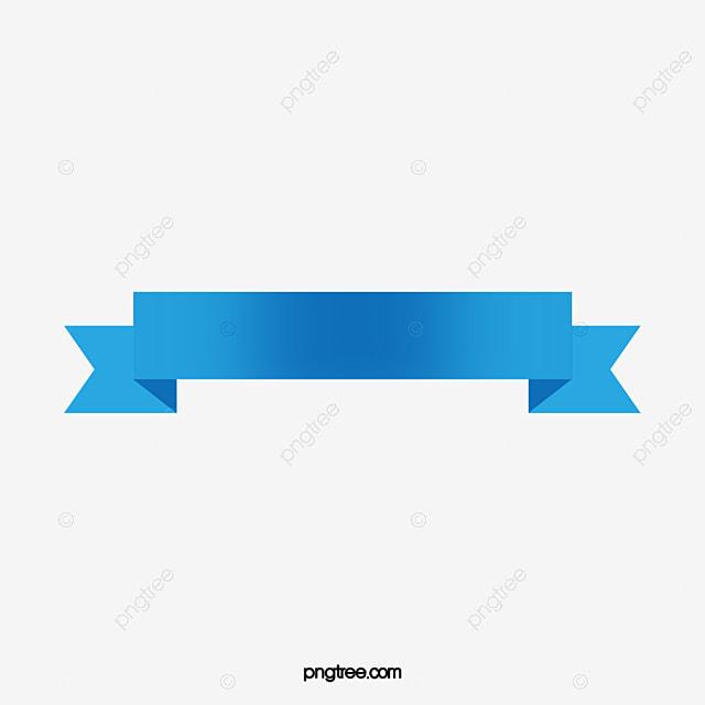 Liston Blanco Vector Png: Blue Ribbon Banner Vector, Ribbon Banner, Title Ribbon