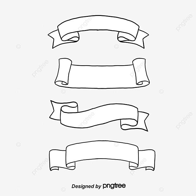 dessins des rubans de banni u00e8re satin bordure banni u00e8re png et vecteur pour t u00e9l u00e9chargement gratuit