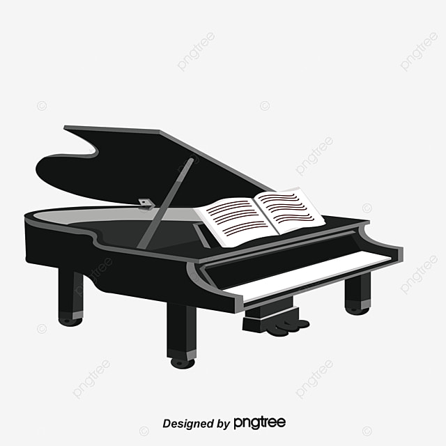 le piano et la musique de dessin vectoriel piano