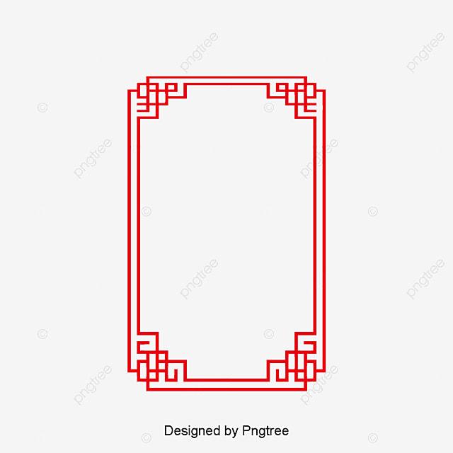 style de cadre chinoiserie de bord rouge pointe de bordure