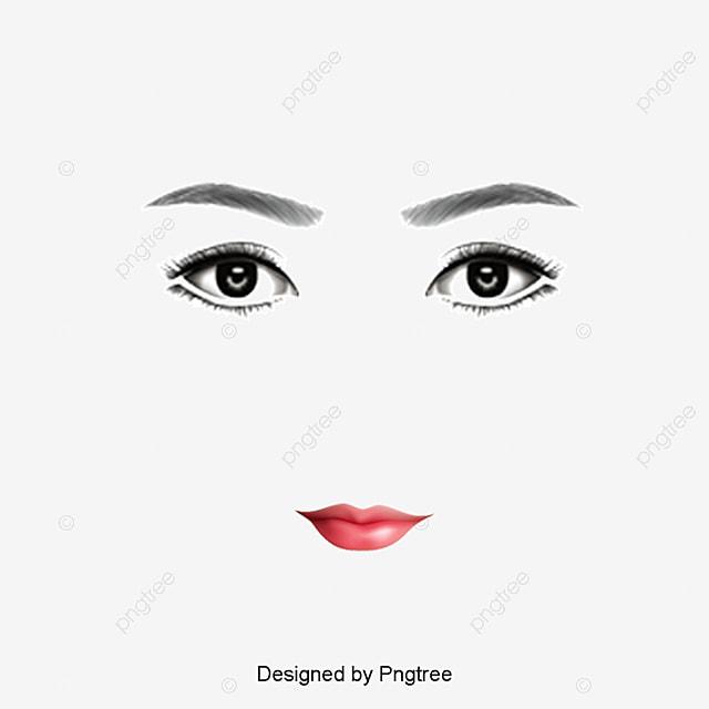 Kiss And Makeup Svg: Pintado A Mano De Los Personajes De Los Ojos Cerrados