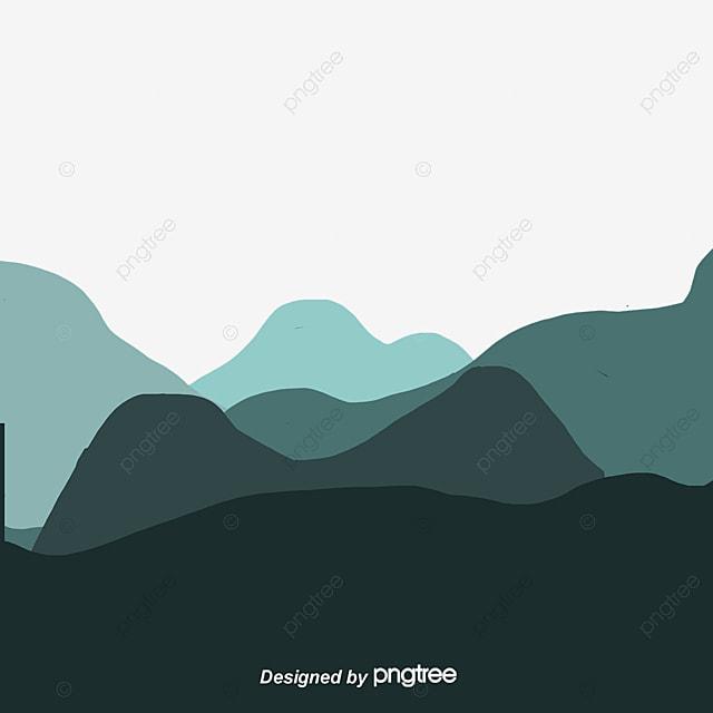 Rolling Hills Mountain Range Peak Vector Mountain PNG