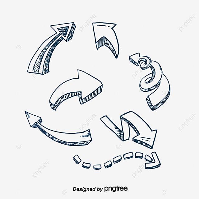 hand drawn arrow arrow vector curved arrow arrow hand png and