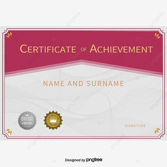 mod u00e8le de certificat anglais motif d u00e9coratif certificat de