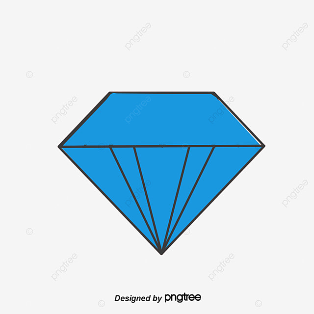 Blue Cartoon Diamond Vector Png Diamonds Blue Diamond